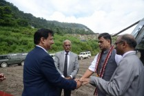 Visit of Sh. R. K. Singh, Hon'ble Minister of State (IC), India (Power, New & Renewable Energy, SD & E) to Arun-3 HEP